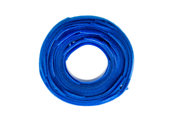 "Velcro One-Wrap Straps, 3/4"" x 8"", Qty 25, Blue"