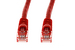 Cat6 Crossover Ethernet Patch Cable, Snagless, 10', Red
