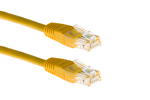 CAT6 Ethernet Patch Cable, Non-Booted, 1 Foot, Yellow