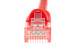 CAT6 Ethernet Patch Cable, Booted, 7ft, Red