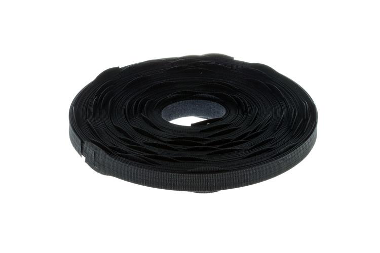"""Velcro Qwik Tie Roll, 3/4"""" x 12"""", Qty 75, Black"""