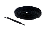"Velcro Qwik Tie Roll, 3/4"" x 6"", Qty 150, Black"