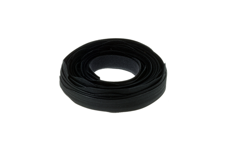 "Velcro Qwik Tie Roll, 3/4"" x 8"", Qty 25, Black"