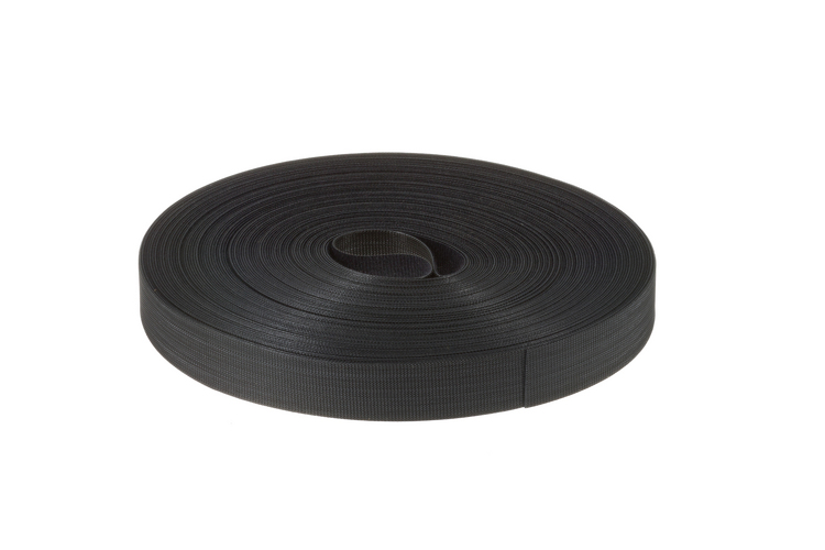 "Velcro Qwik Tie Uncut Tape Roll, 3/4"" x 25 Yards, Black"