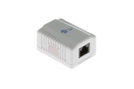 RJ45 Single Port Cat5e Surface Mount Jack White, 110 Punch Down