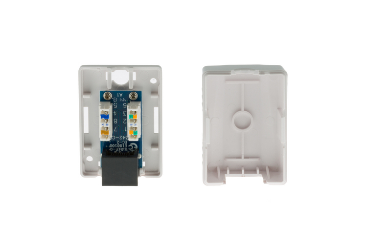 surface mount rj45 punch single port cat5e white qty 110