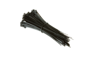 "4"" Nylon Cable Ties, Black (Qty 100)"
