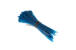 "4"" Nylon Cable Ties, Blue (Qty 100)"