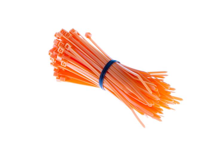 """4"""" Nylon Cable Ties, Orange (Qty 100)"""