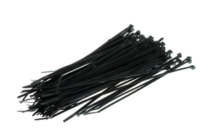 "8"" Nylon Cable Ties, Black (Qty 100)"
