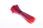 "8"" Nylon Cable Ties, Red (Qty 100)"