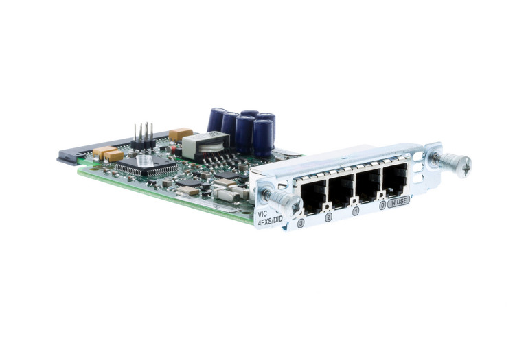 Cisco 4-Port FXS/DID Voice Interface Card, VIC-4FXS/DID