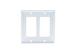 Decorative GFCI Wall Plate, 2 Port, White