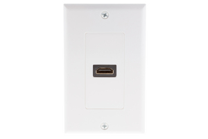 HDMI Right Angle Wall Plate, White