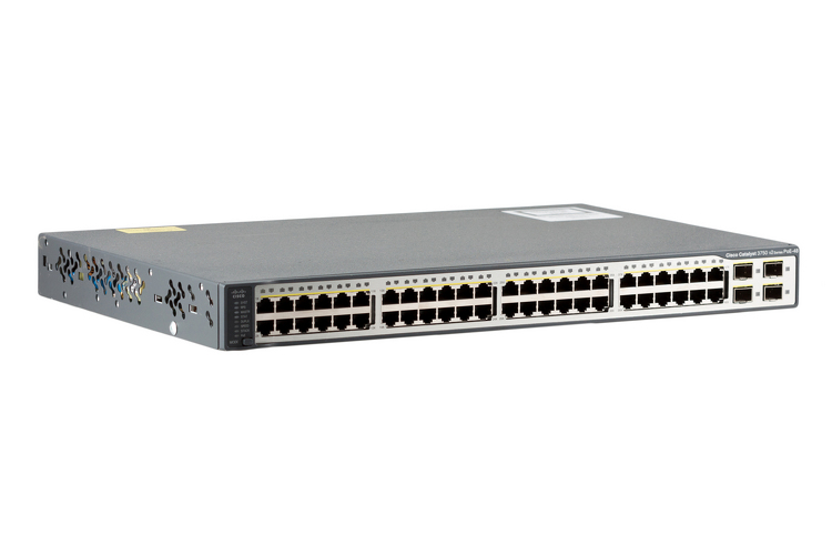 Cisco 3750V2 Series 48 Port PoE Switch, WS-C3750V2-48PS-S