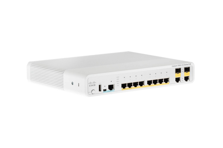 Cisco 3560 Compact Series 8GE Port  PoE+ Switch,WS-C3560CG-8PC-S