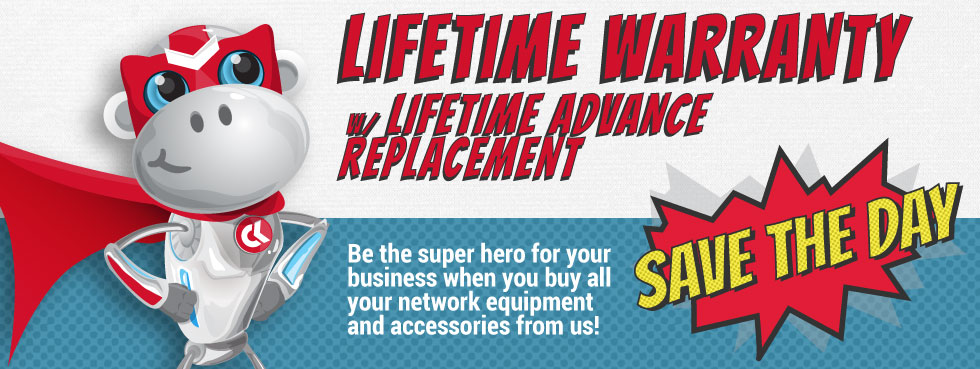 Lifetime Warranty with Lifetime Advance Replacement