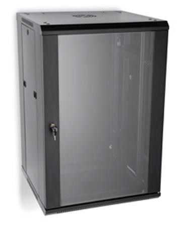 "LINIER 22U 19"" Wall Mount Cabinet with Glass Door"