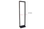 "45U (7') 19"" Two Post Equipment Rack, Aluminum, Black Finish"