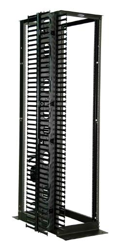 Great Lakes 4 Post 45U Rack w/ M6 Rails & Front/Rear Cable Mgmt
