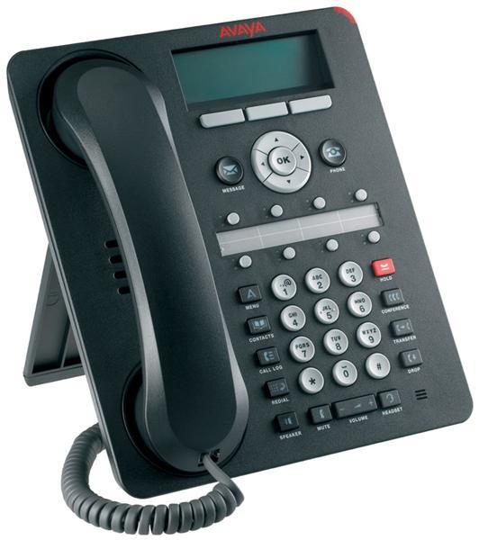 Avaya 1608-I Eight Line IP Phone, Charcoal, NEW