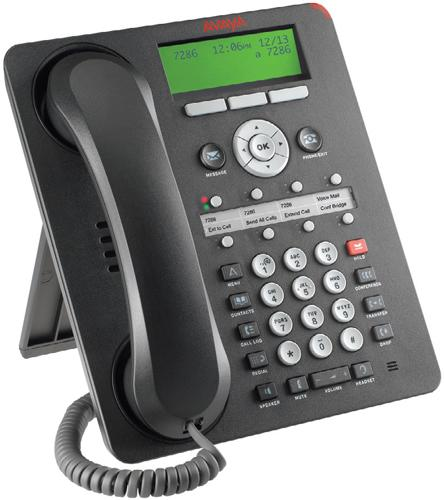 Avaya 1408 Eight Line Digital Phone, Black, NEW