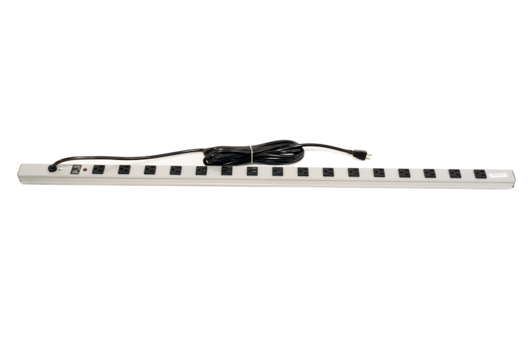 Great Lakes 16 Position Power Strip w/ Breaker, 15A/125V