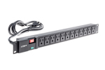 "19"" 1RU Surge Suppressing Power Strip With Twelve 5-15R Outlets"