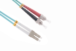 LC-ST 10 Gigabit Multimode Duplex 50/125 Fiber Patch Cable, 2M