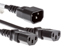 AC Power Cord, C14 to C13 (x2) Splitter Cable, 18 AWG, 3ft