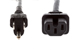 AC Power Cord, 5-15P to C15, 14 AWG, 8ft