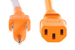 AC power cord, 5-15p to C13, 14 AWG, 2ft, Orange