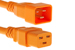 AC power cord, C20 to C19, 12 AWG 2ft, Orange