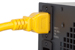 AC power cord, C20 to C19, 12 AWG, 6ft, Yellow