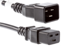 AC Power Cord, C20 to C19, 14 AWG, 2ft, Black