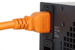 AC power cord, C14 to C19, 14 AWG, 6ft, Orange