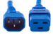AC Power cord, C14 to C19, 14 AWG, 10ft, Blue