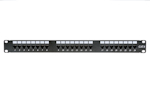 24 Port Cat6 110 1RU Rack Mount Punch Down Patch Panel