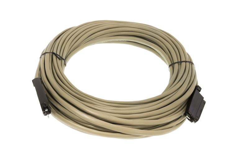 Cat3 90 Degree RJ21 Male to Male Telco Cable, 100'