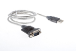 USB to Serial (DB9/Hex Nut) Converter Cable, 3'