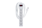 Surge Protector Power Strip With (6) 15A Outlets and 6ft Cord
