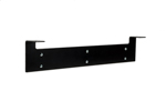 1U Vertical Hanging Wall Mount Bracket, Heavy-duty 10-Gauge Steel, Black, 19""