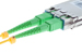 SC/APC to SC/APC Singlemode Duplex Fiber Patch Cable, 1M