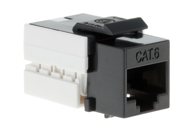 Cat6 RJ45 110 Type Keystone Jack, Black