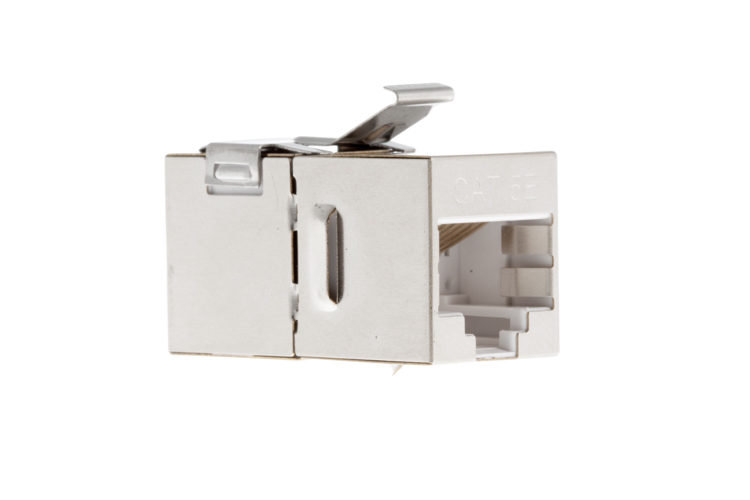 Cat5e RJ45 Inline Coupler Type Keystone Jack, Shielded