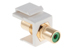 Keystone Snap In Green RCA Type F/F Module, White