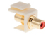 Keystone Snap In Red RCA Type F/F Module, Ivory