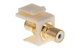 Keystone Snap In White RCA Type F/F Module, Ivory