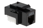 RJ11/12 (Cat 3) Type Keystone Jack, Black