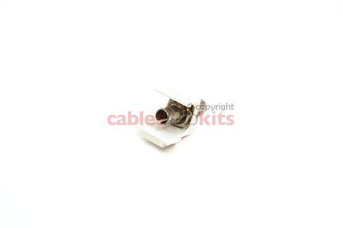 Keystone Snap In ST Fiber Module, White